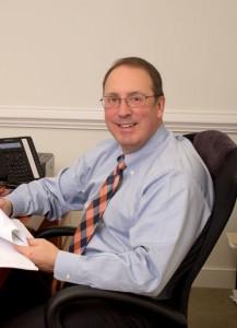 Eric Hurlocker at his desk