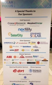 SEIA-MDV SOlar Focus Sponsor sign