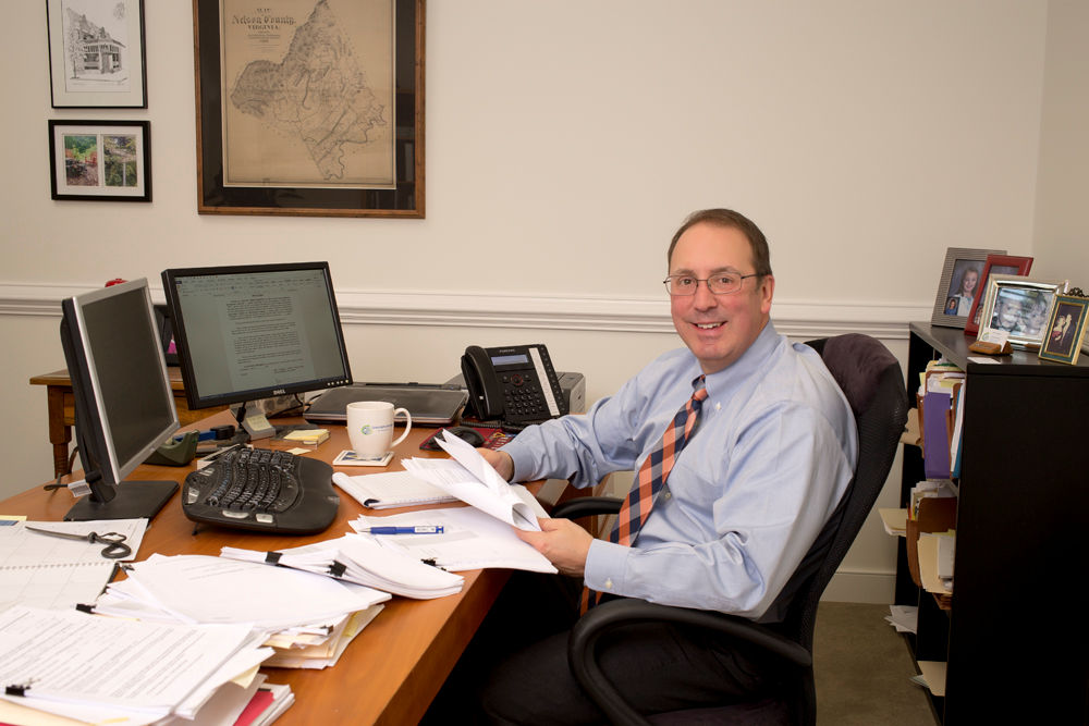 Eric Hurlocker at his desk