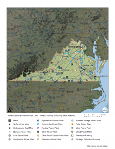 map of Virginia's energy resources