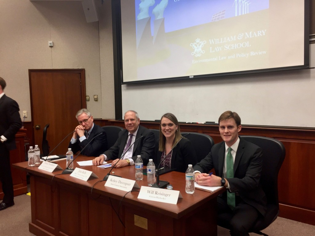panel at W&M energy symposium