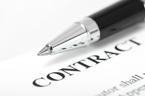 pen on a contract document